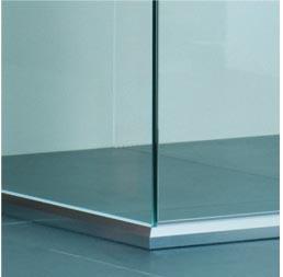 2-1 Semi Frameless Shower Screens