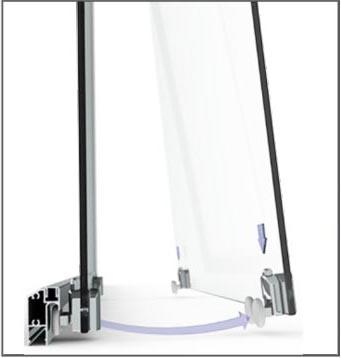 2-2 Semi-Frameless Sliding Shower Screen