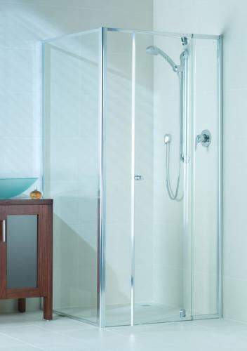 Optima_door_open Semi Framed Shower