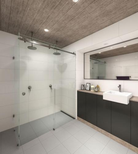 pivotech_manhattan_bathroom2 Frameless Sliding Shower